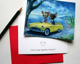 Let's cruise together forever Valentine Card