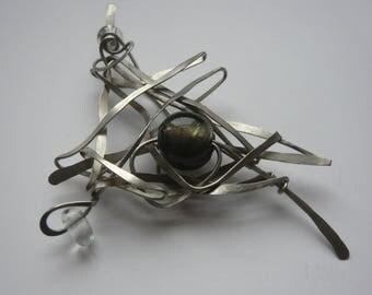 Brooch Art deco Sissi steel strand