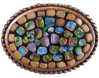 Jasper Mosaic Belt Buckle Ready to Ship