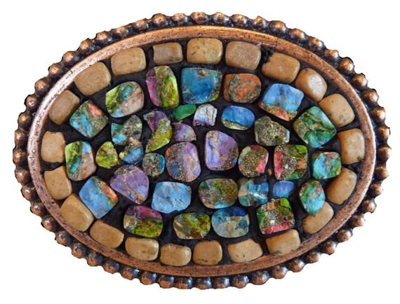 Jasper Mosaic Belt Buckle Ready to Ship