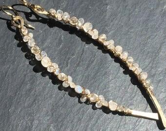 Gold Swizzle Earrings