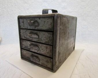 Vintage Metal Drawer Set Small Industrial