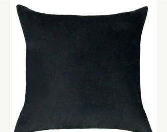 Black Throw Pillow -  Black Faux Suede Decorative Throw Pillow Free Shipping