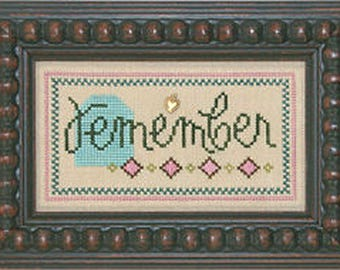 Lizzie Kate Double Flip F71 - Remember Give - Counted Cross Stitch Chart Pattern with Charms