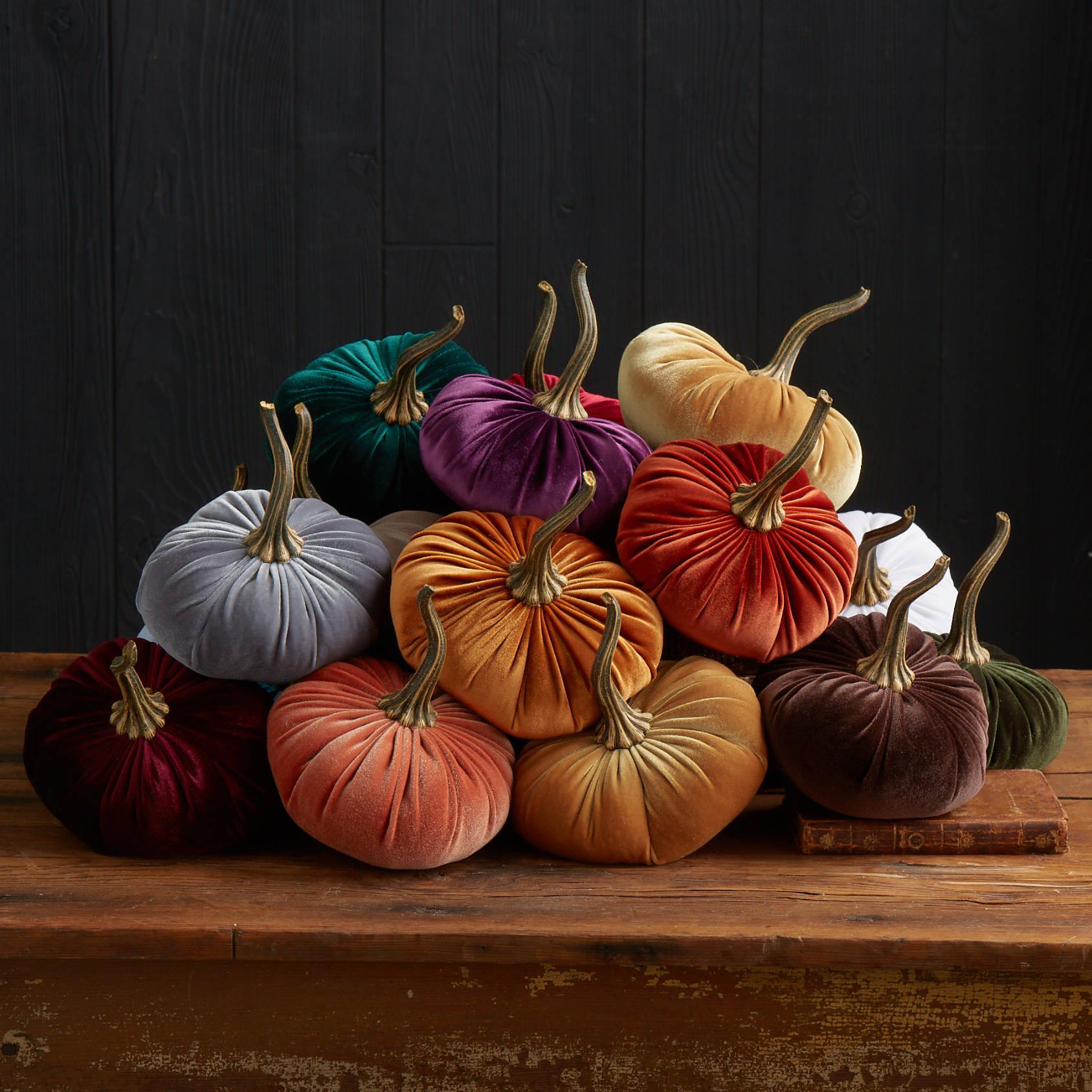 Pumpkin stems set of 3 large diy velvet pumpkins diy for Best selling home decor etsy