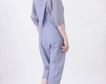 Organic crossweave overalls