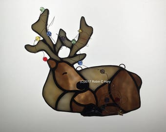 Tangled Reindeer in Stained Glass