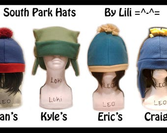 South Park's Hats - Stan, Kyle, Eric and/or Craig