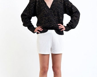 40% OFF The Vintage Sexy Gold Fleck V Neck Sweater