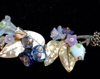 Flower Bouquet for your Neck—Glass Flowers-OOAK