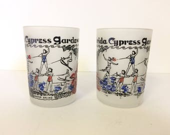 Cypress Gardens Double Shot Glasses, Set of Two