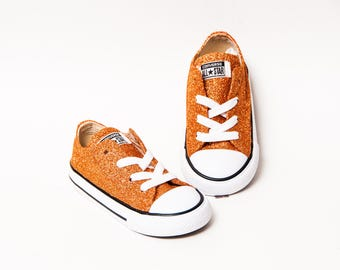 Toddler - Glitter - Sedona Orange Converse Canvas Low Tops Sneakers Tennis Shoes