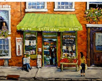 On Sale Daily Life Street Montreal original oil painting created by Prankearts