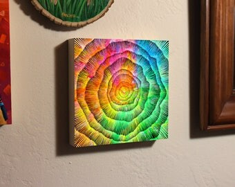 Abstract Sun Mandala, Black Hole, Original Painting, Brush and Ink Drawing by Teddy Pancake, Visionary Art, Contemporary Art #24