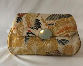 Vintage Estate Silk Clutch Purse with Asian Design, from Gump's