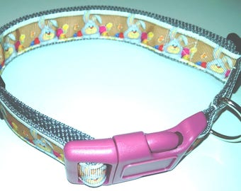 "Easter Bunny Dog Collar-Large size 16"" to 25"" adjustable"