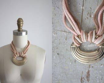 blush knot necklace