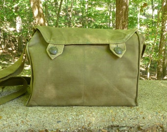 Vintage Military Canvas Messenger Bag Satchel