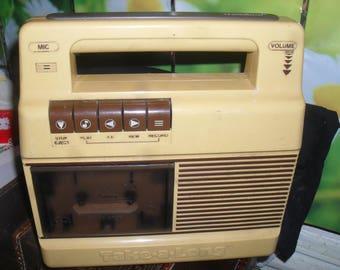 Vintage - Kids Cassette Player - Take A Long -  Power Tronic 1983