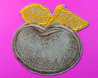 Vintage Sew On Patch - Apple - Sew On Patch - Vintage Patch - Embroidered Patch
