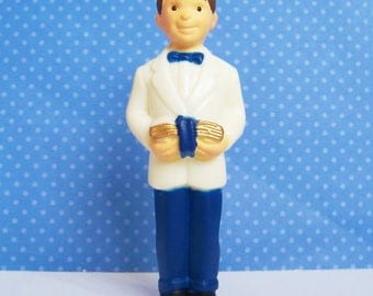 "Bakery Crafts Communion Boy Cake Topper Vintage 1997 New Old Stock 3 1/2""h"