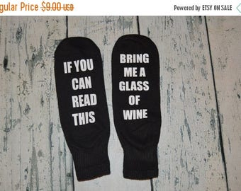 ON SALE Bring me Wine Mens Socks stocking stuffer gag gift - Wine Ankle Socks