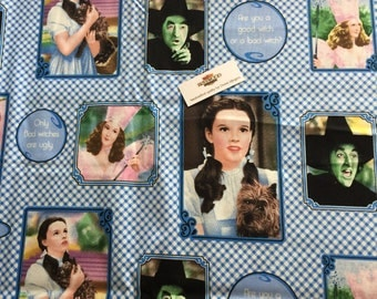 The Wizard of Oz Children's quilting Fabric, Quilting Treasures Oz Fabrics, Childen's fabric, Kid Print Fabric, Dorothy and The Witch(es)