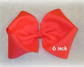 Girls hairbows, 6 inch bow, Big Hair Bow, Boutique Bows, large hairbow, Pick your Colors, Dance Bows, Cheer Bow, School Bows, Boutique Bow
