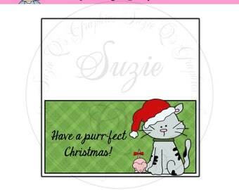 Purr-fect Christmas Toppers - Digital Printable - Immediate Download