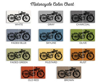 Vintage Motorcycle - Men Motorcycle Gift - Motorcycle Gift for Him - Motorcycle Gift for Her - Motorcycle Artwork - Motorcycle Decor