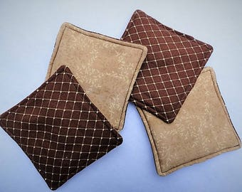 Scented Fabric Coasters set of 4