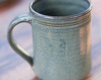 Ceramic Handmade Mug -- Slate Grey Stoneware clay mug - Gray ceramic handmade large mug