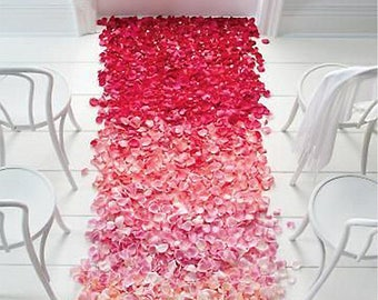Choose Colors 500 pc Silk Rose Petals Table Artificial Flowers Wedding Events Decoration Engagement Celebrations Party Supplies Aisle Runner