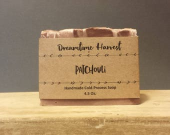 Patchouli Handmade Soap - Organic Soap - Olive Oil Soap - Homemade Soap