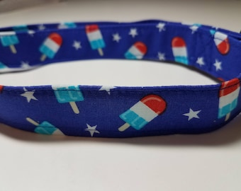 Red White and Blue Bomb Pop Popsicle Dog Collar