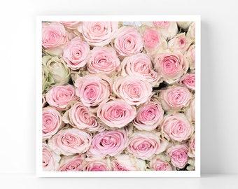 Paris Photography - Rose Bouquet, 5x5 Paris Fine Art Photograph, French Home Decor, Wall Art, Paris Gallery Wall
