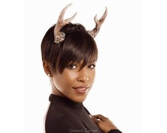 Antler Headband / Antler Crown / Deer Antlers / Fawn Headdress
