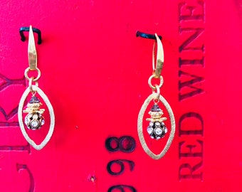 Gold Vermeil Swarovsky Crystal Earrings