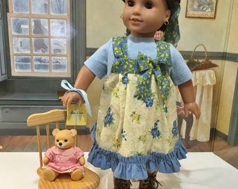"Historidal ""School Days on the Prairie"" ensemble to fit 18 inch dolls like American girl or similiar sized 18 inch dolls"