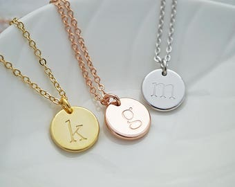 Personalized Necklace Initial Necklace Personalized gift Bridesmaid Gift Christmas gift Bridesmaid necklace gift for her Wedding monogram