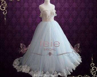 Blue Wedding Dress Etsy