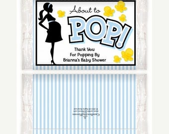 Sale Ready To Pop Blue - Printable Popcorn Wrappers