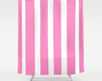 Bubblegum Shower Curtain   Pink Shower Curtain   Modern Shower Curtain   Shower  Curtain   StripedPink shower curtain   Etsy. Pink And White Striped Shower Curtain. Home Design Ideas