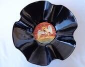 Bol disque vinyle BAD COMPANY en 1974. Disque vinyle recyclé. Bol de disque. Cadeau de Fan de Bad Company. Décor de salle de musique. Étiquette du chant du cygne. Groupe de rock