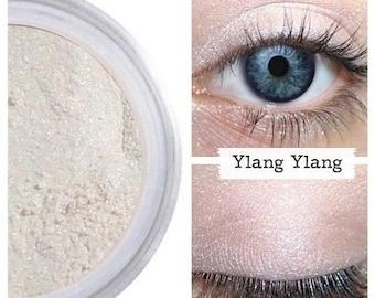 SALE Eyeshadow, Ylang Ylang, Pink Pearl Eye Shadow, White, Mineral Eyeshadow, Mineral Makeup, Vegan, Cruelty Free, Eye Makeup