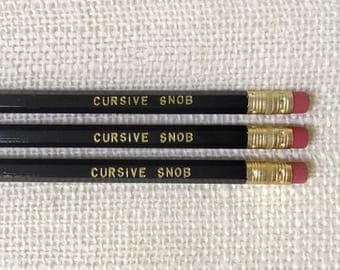 Pencil Set - Cursive Snob