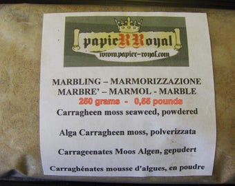 Marbled paper supplies   Carragheen moss seaweed, powdered- -  250 grams  - 0,55 pounds.-  577