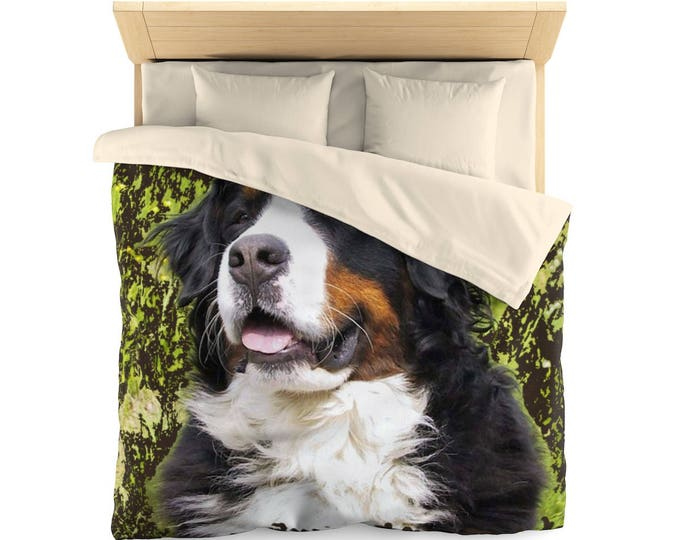 Bernese Mountain Dog Microfiber Duvet Cover