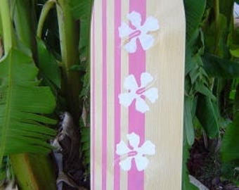 4FT SURFBOARD.  Hawaiian Beach Wall art. Hawaiian Surf Wall Decor. Custom Painted. Lot Designs 2 Sizes...wow / SALE
