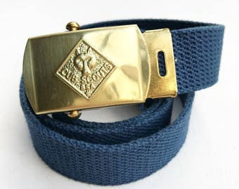 Vintage Cub Scout Belt with Brass Buckle (Small)